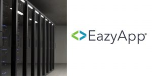 eazyApp logo and data center